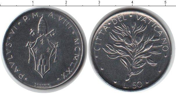 Картинка Монеты Ватикан 50 лир Железо 1970