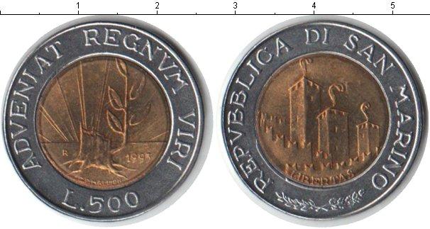 Картинка Монеты Сан-Марино 500 лир Биметалл 1993