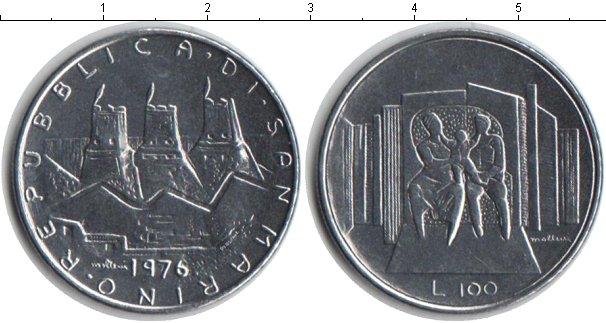 Картинка Монеты Сан-Марино 100 лир Железо 1976