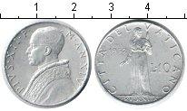 Изображение Монеты Ватикан 10 лир 1952 Алюминий XF