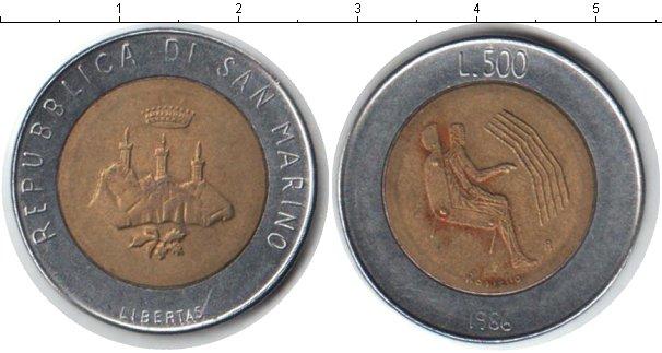 Картинка Монеты Сан-Марино 500 лир Биметалл 1986