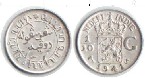 Картинка Монеты Нидерландская Индия 1/10 гульдена Серебро 1941
