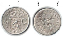 Монета Нидерландская Индия 1/10 гульдена Серебро 1942 XF фото