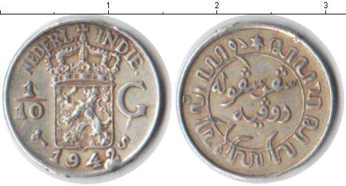 Картинка Монеты Нидерландская Индия 1/10 гульдена Серебро 1942