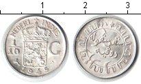 Изображение Монеты Нидерландская Индия 1/10 гульдена 1945 Серебро UNC-