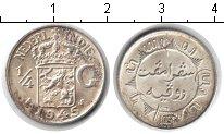 Изображение Монеты Нидерландская Индия 1/4 гульдена 1945 Серебро XF /