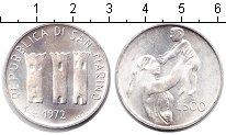 Изображение Монеты Сан-Марино 500 лир 1972 Серебро UNC- Мать и дитя
