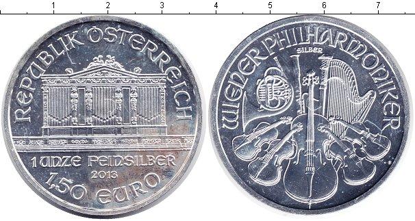 Картинка Монеты Австрия 1 1/2 евро Серебро 2013