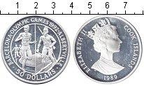Изображение Монеты Острова Кука 50 долларов 1989 Серебро Proof- Олимпийские игры Бар