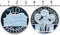 Изображение Монеты Сан-Марино 10 евро 2008 Серебро Proof- Паладдио