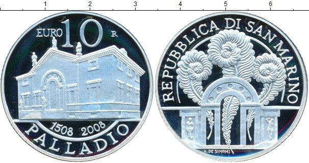 Картинка Монеты Сан-Марино 10 евро Серебро 2008