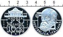 Изображение Монеты Италия 10 евро 2008 Серебро Proof- Андре Палладио