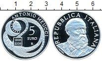 Изображение Монеты Италия 5 евро 2008 Серебро Proof- Антонио Меуччи