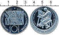 Изображение Монеты Италия 10 евро 2007 Серебро Proof 100-летие итальянско