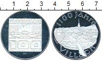 Изображение Монеты Австрия 100 шиллингов 1978 Серебро UNC- 1100 лет Виллах