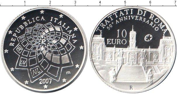 Картинка Монеты Италия 10 евро Серебро 2007