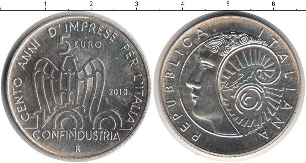 Картинка Монеты Италия 5 евро Серебро 2010