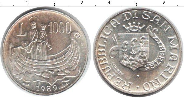 Картинка Монеты Сан-Марино 1.000 лир Серебро 1989