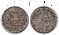 Изображение Монеты Италия 50 сентесим 1863 Серебро XF Витторио Имануил II
