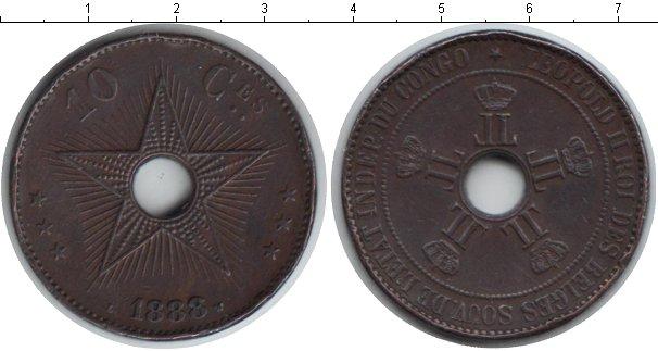 Картинка Монеты Бельгийское Конго 10 сантимов Медно-никель 1888