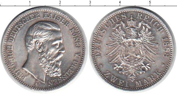 Картинка Монеты Пруссия 2 марки Серебро 1888