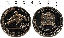 Изображение Мелочь Танзания 2000 шиллингов 1996  Proof- XXVI Олимпиада