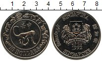 Изображение Мелочь Сингапур 10 долларов 1992 Медно-никель UNC-