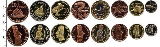 Изображение Наборы монет Остров Пасхи Остров Пасхи 2014 2014  UNC
