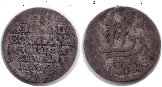 Картинка Монеты Мекленбург-Шверин 1 шиллинг Серебро 0