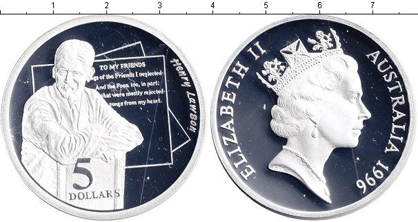 Картинка Монеты Австралия 5 долларов Серебро 1996