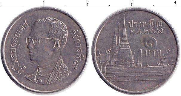 Картинка Дешевые монеты Таиланд 1 бат  2004
