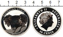 Изображение Монеты Австралия 50 центов 2014 Серебро Proof- Елизавета II. Коала
