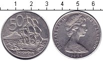 Изображение Подарочные монеты Новая Зеландия 50 центов 1979 Медно-никель UNC Парусное судно
