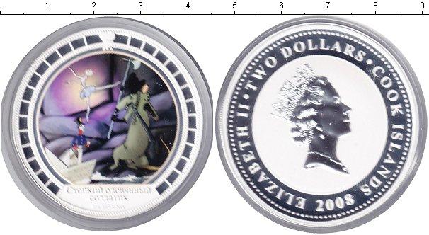 Картинка Монеты Острова Кука 2 доллара Серебро 2008