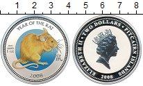 Изображение Монеты Острова Питкэрн 2 доллара 2008 Серебро Proof- Год крысы