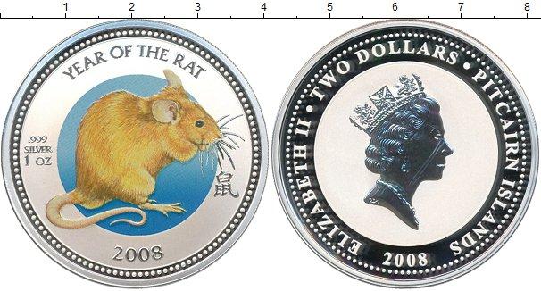 Картинка Монеты Острова Питкэрн 2 доллара Серебро 2008