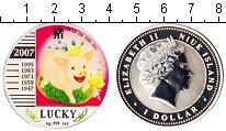 Изображение Монеты Ниуэ 1 доллар 2007 Серебро Proof- Год Кабана