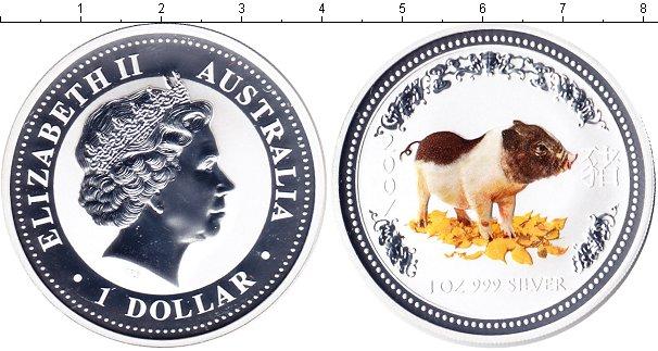 Картинка Монеты Австралия 1 доллар Серебро 2007