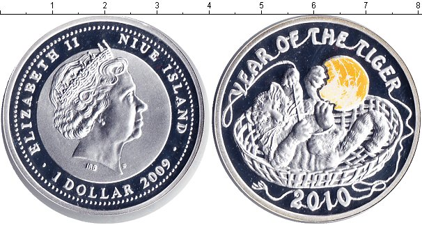 Картинка Монеты Ниуэ 1 доллар Серебро 2009