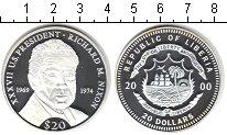 Изображение Монеты Либерия 20 долларов 2000 Серебро Proof- Рихард Никсон