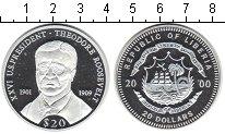 Изображение Монеты Либерия 20 долларов 2000 Серебро Proof- Теодор Рузвельт