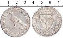 Изображение Монеты Веймарская республика 5 марок 1930 Серебро XF Освобождение Рейнлан