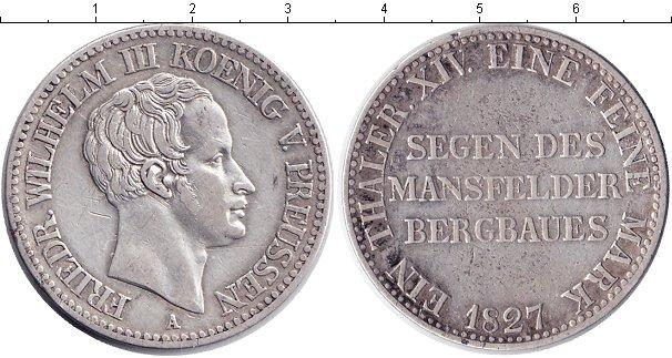 Картинка Монеты Пруссия 1 талер Серебро 1827