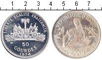 Изображение Монеты Гаити 50 гурдов 1976 Серебро Proof- Олимпиада Инсбрук