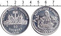 Изображение Монеты Гаити 50 гурдов 1974 Серебро Proof- Олимпиада 1976