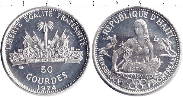 Картинка Монеты Гаити 50 гурдов Серебро 1974