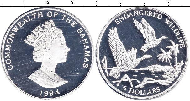 Картинка Монеты Багамские острова 5 долларов Серебро 1994