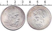 Изображение Монеты Чехословакия 100 крон 1974 Серебро UNC 150 лет со дня рожде