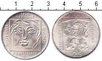 Изображение Монеты Чехословакия 25 крон 1970 Серебро UNC 50 лет Национальному