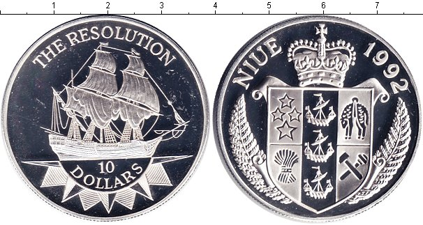 Картинка Монеты Ниуэ 10 долларов Серебро 1992
